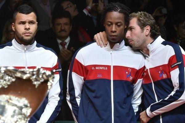 Jo-Wilfried Tsonga, Gaël Monfils et Julien Benneteau battus en Coupe Davis 2014 face à la Suisse