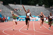 Leelou Martial-Ehoulet du Good Luck est championne de France du 100 m juniors (9 juillet 2021).