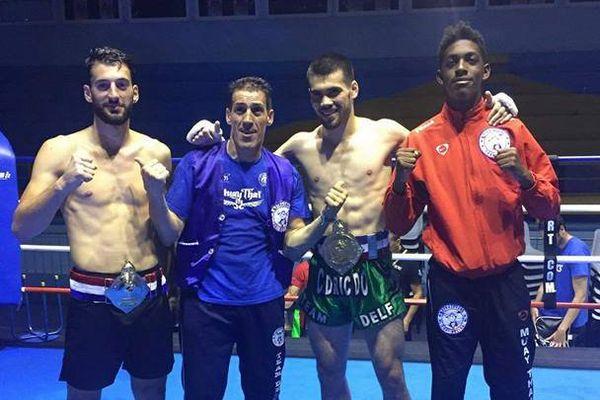 Cédric Do champion de France boxe thaï moins de 71 kilos Château-Thierry (18 juin 2017)