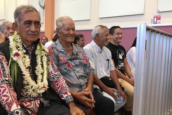 Oscar Temaru, Vito Maamaatuaiahutapu et Heinui Lecaill sur les bancs du tribunal