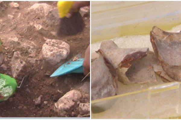 Morceaux d'objets trouvés sur le site de l'Anse à Bertrand