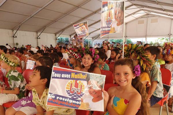 Des centaines d'enfants réunis à la Présidence pour voir Natihei en finale