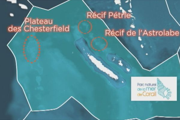 Cartes parc de la mer de Corail