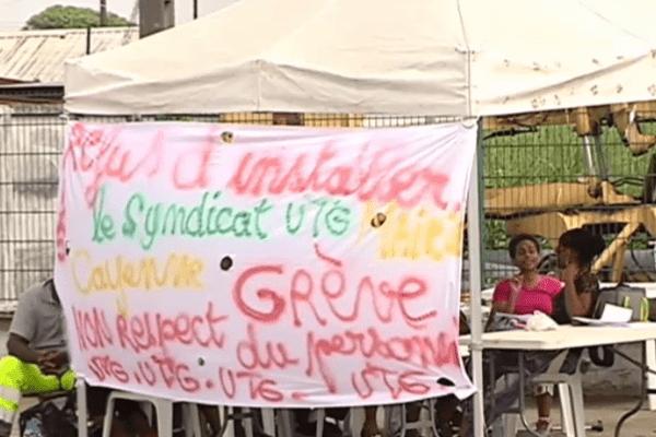 Grève aux Services Techniques de la mairie de Cayenne