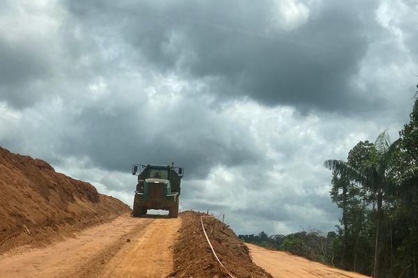La piste entre Maripa-Soula et Papaichton