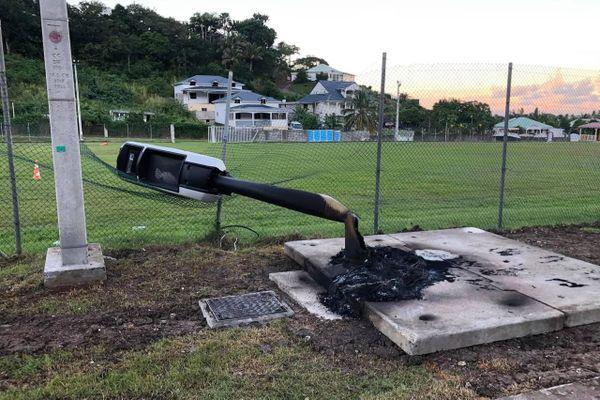Radar incendié Deshaies