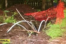 Travaux d'enfouissement de câbles électriques à Wallis