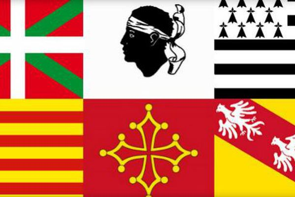 langues régionales drapeaux