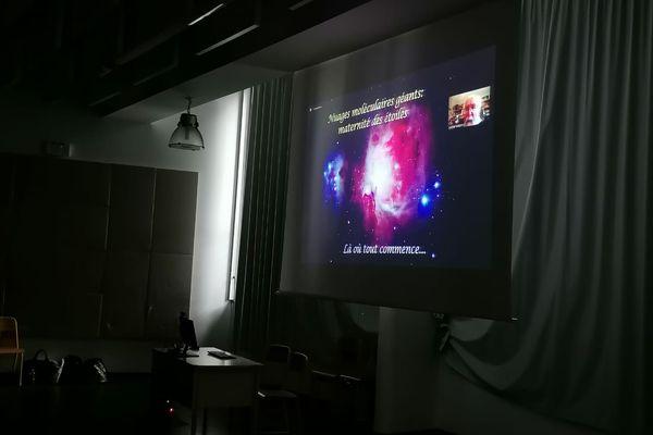 Formation des planètes, visioconférence au lycée de Tsararano avec Michel Mayor Prix Nobel de physique 2019