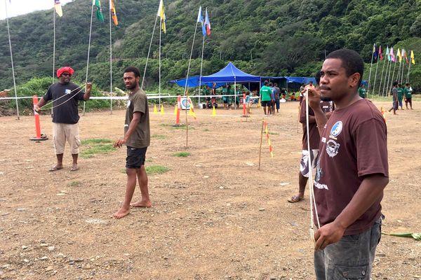 Coupe Tjibaou 2018, tir à la fronde