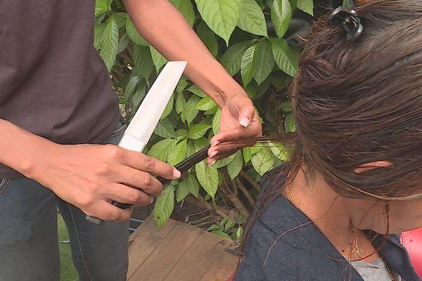 Couper ses cheveux au sabre est une technique qui s'installe à La Réunion