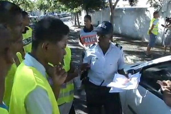 Opération de Police et lycéens