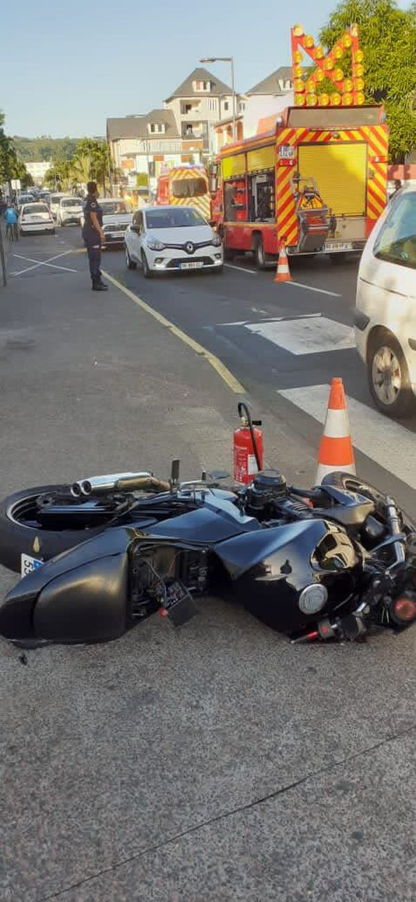 Accident mortel motard saint paul