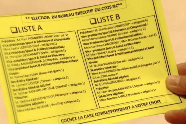 Bulletin d'élection au nouveau bureaau du CTOS, 16 mai 2020