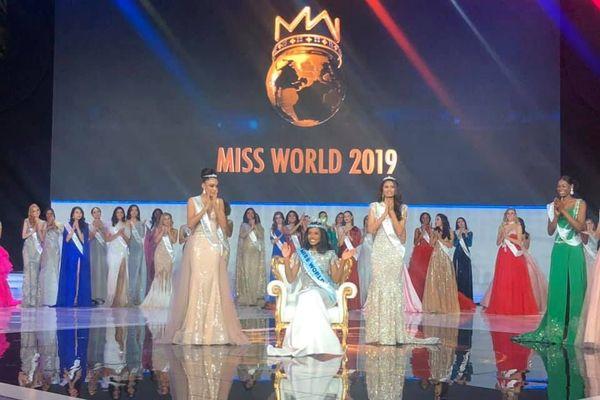 Podium miss monde