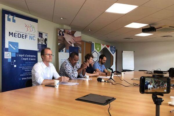 Conférence d epresse du Medef, Covid et investissements, 3 août 2020