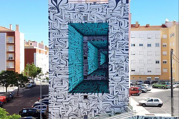Le graffiti en 3D de l'artiste Astro