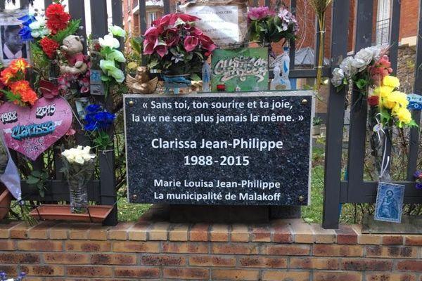 Plaque en hommage à Clarissa à Malakoff