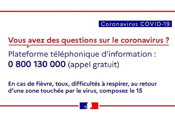 plateforme coronavirus