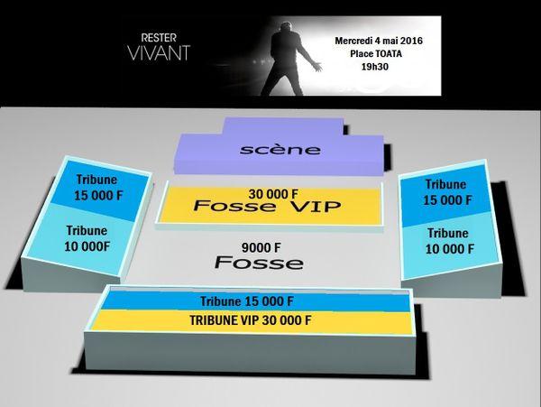 Plan du concert de Johnny Hallyday : tarifs