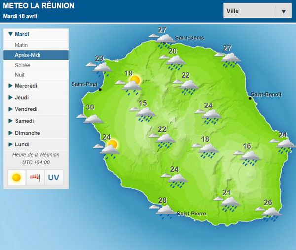 Carte météo 18 avril 2017