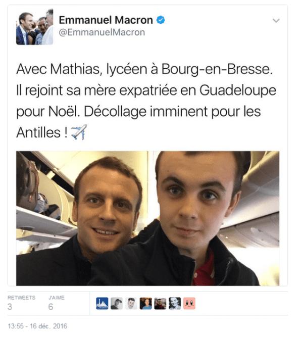 tweet macron Guadeloupe