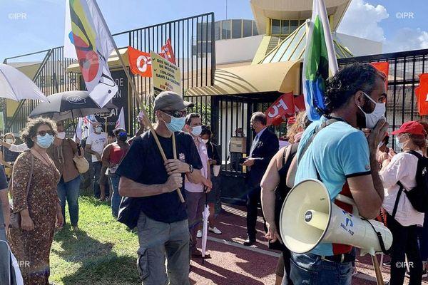 Manifestation syndicat rectorat education nationale