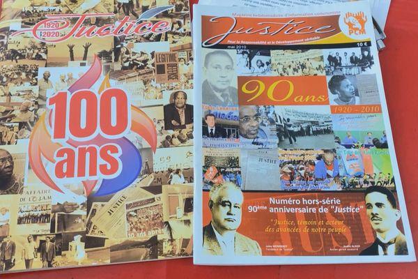 Le centenaire du journal Justice