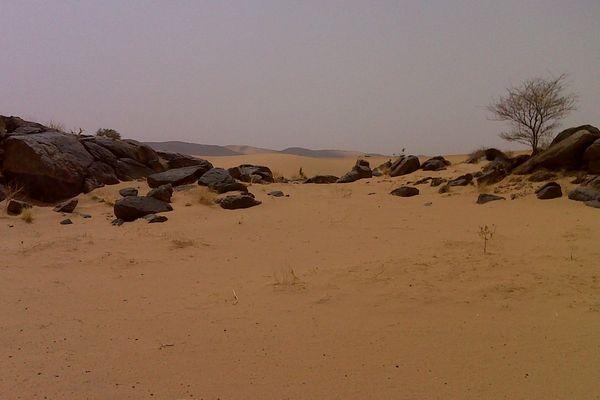 Adrar des Ifoghas au nord du Mali