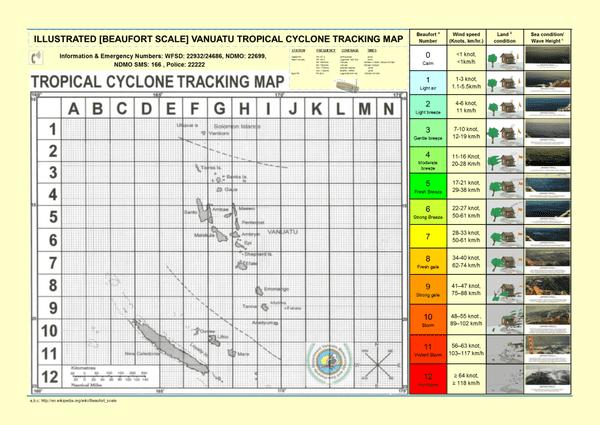 Carte Cyclonique Vanuatu