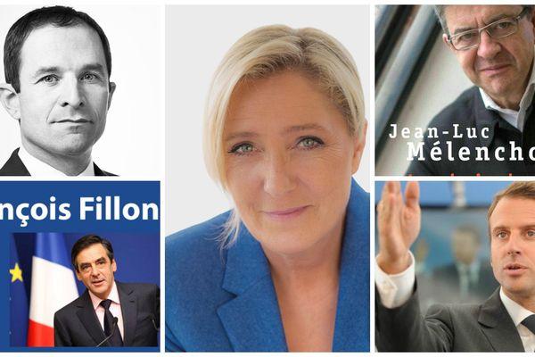 Principaux candidats à la présidentielle 2017