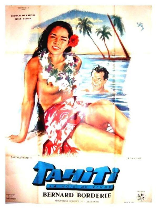 affiche tahiti ou la joie de vivre
