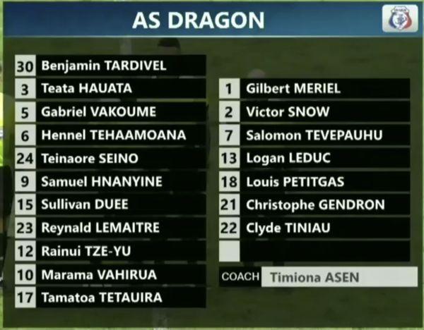 AS Dragon équipe 12/2/18