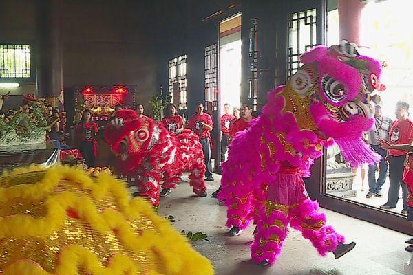 danse du lion/ nouvel an chinois