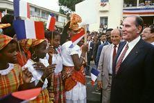 François Mitterrand en Martinique en 1985