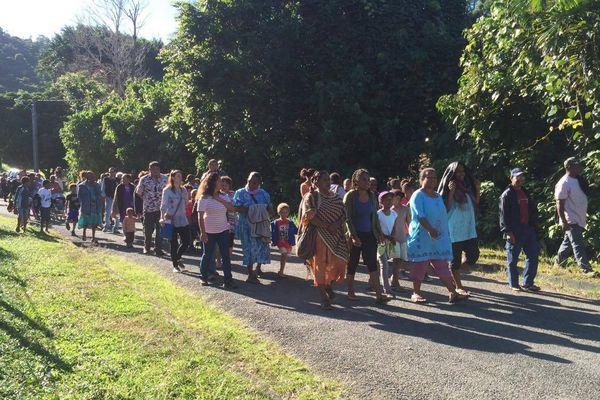 Marche de protestation à Ponérihouen