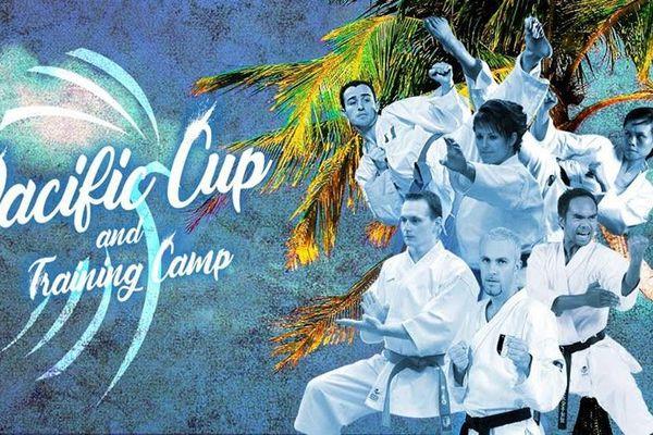Affiche de la Pacific cup 2018 de karaté.