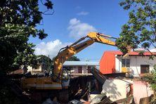 destruction d'un squat à Eau Lisette 44 rue des Ramiers