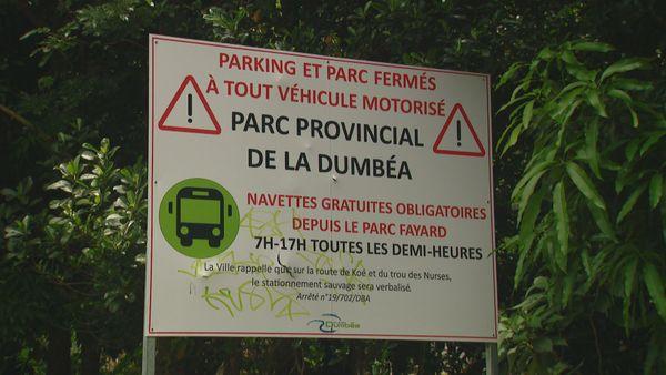 Parc de la Dumbéa. Interdiction voitures