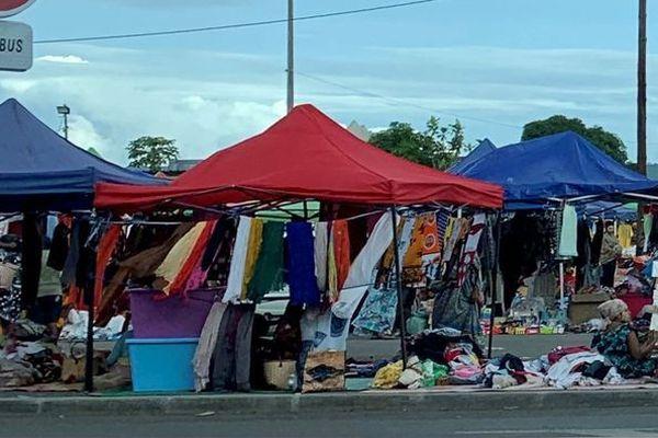 marché informel à Mamoudzou