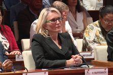 Virginie Ruffenach durant l'élection à la présidence du Congrès, le 28 juillet 2021.
