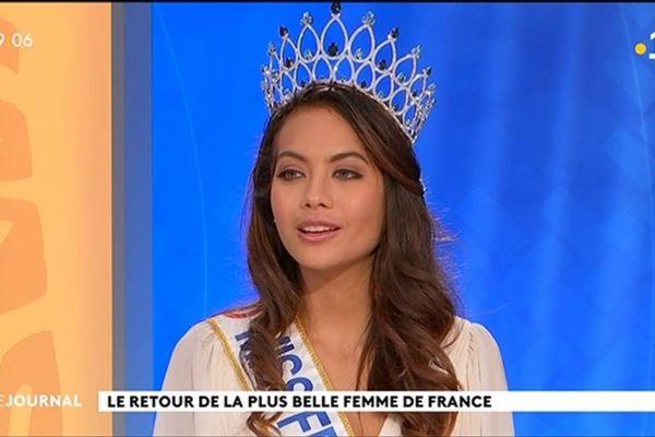 Invitée du Journal: Miss France, retour au Fenua .