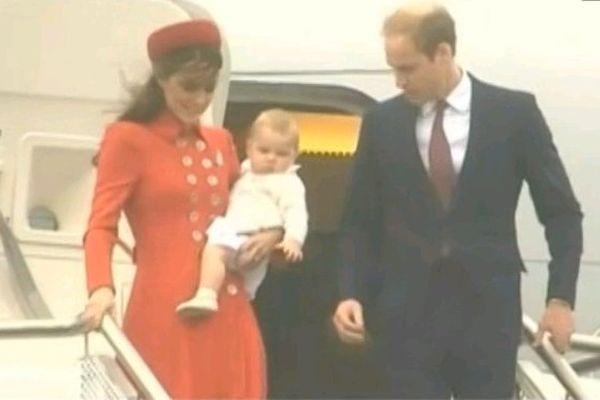 Prince George en Nouvelle Zelande