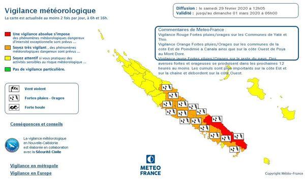 Vigilance rouge aux pluies du 29 février, version large
