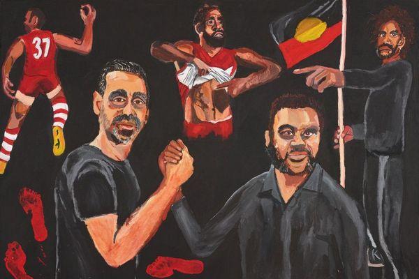 """""""Restez forts pour ce que vous êtes"""" Archibald Prize Vincent Namatjira"""