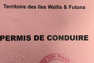 permis de conduire de Wallis et Futuna