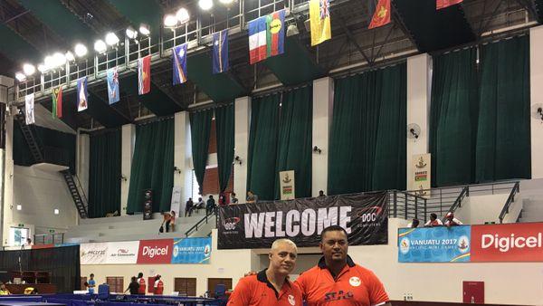 Pascal Seuru et Setuli Masei représentent Wallis et Futuna en tennis de table