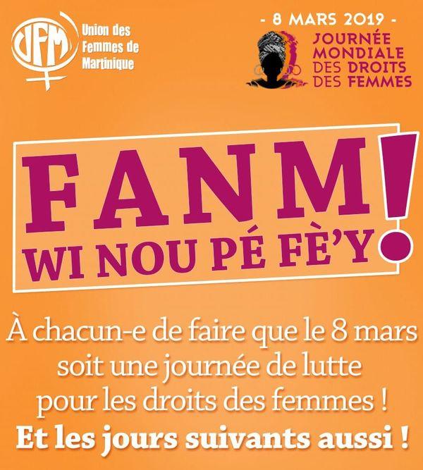 flyer 8 mars de l'UFM