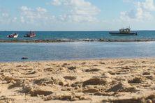Plage du CHS de Nouville, le mercredi 26 mai. D'importants moyens ont été déployés pour retrouver le plongeur.