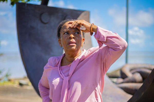 Christiane Taubira sur la place des Chaînes brisées à Cayenne